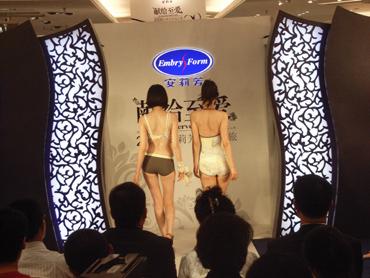 内衣屋さんのファッションショー