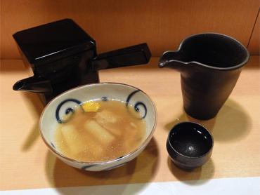 蕎麦湯で飲みたいのです