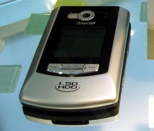HDD搭載携帯電話SPH-V5400