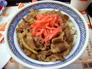 牛肉飯(大)