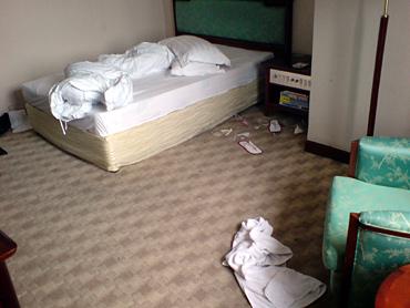 とにかく何でも床に!という育ちですから、本人には部屋を汚しているという意識すらないのではないかと